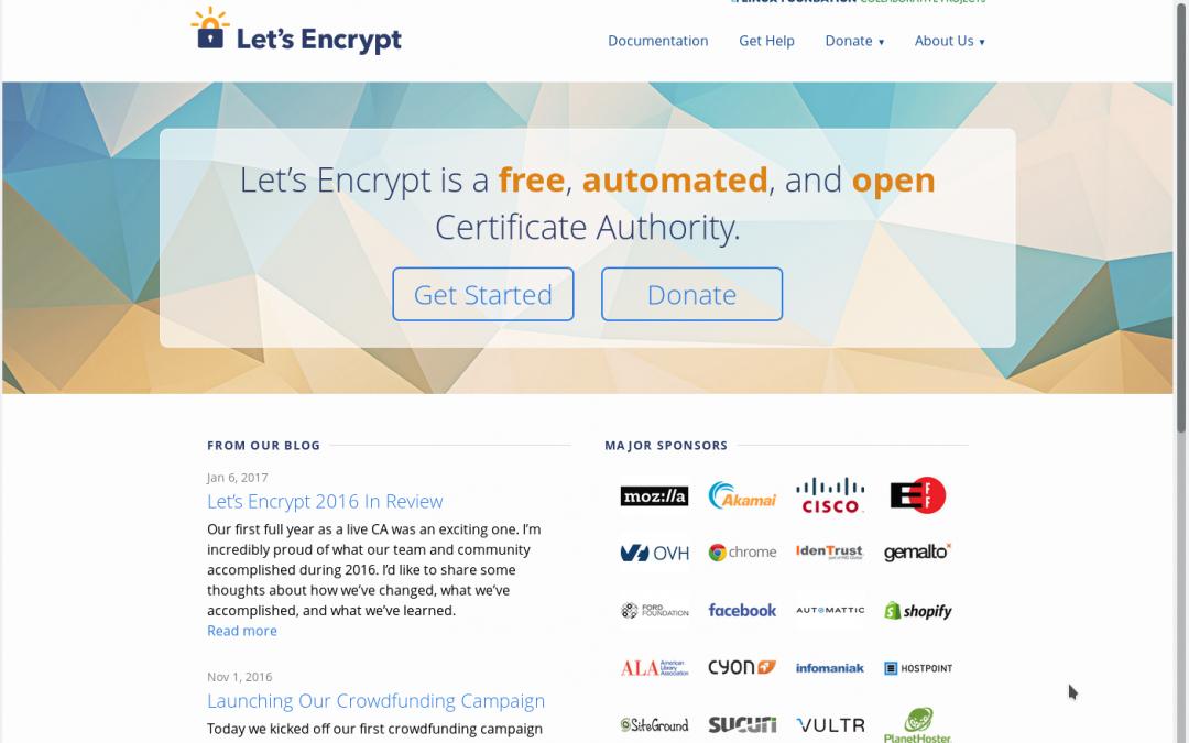 https gratis gracias a Letsencrypt