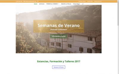 "Nueva web casa de reposo ""Casa-Taller SALUZ"""