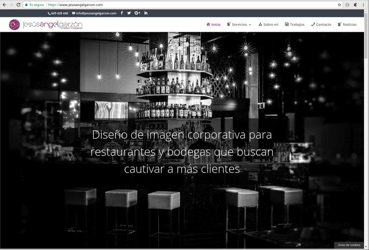 Web para diseñador de imagen corporativa