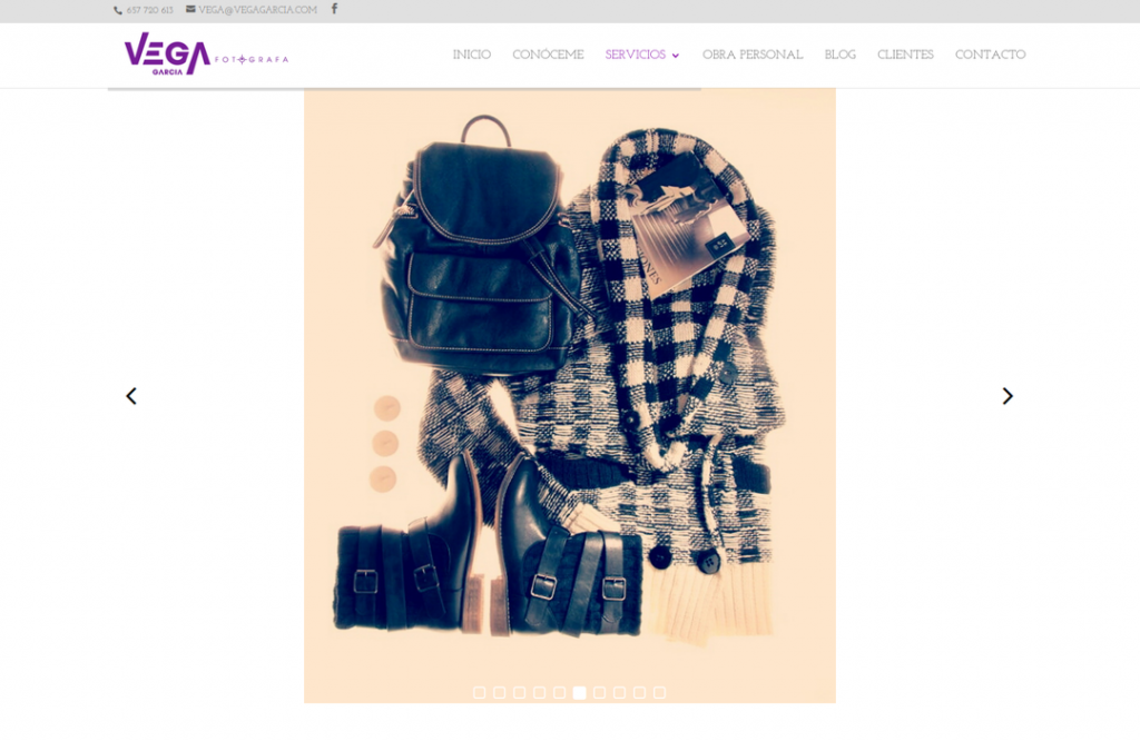 web de fotografía