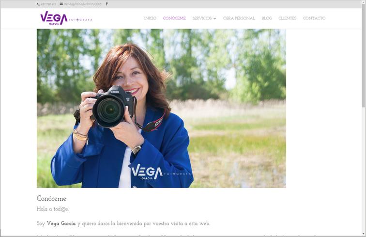 """web de fotografía, página """"conóceme"""""""