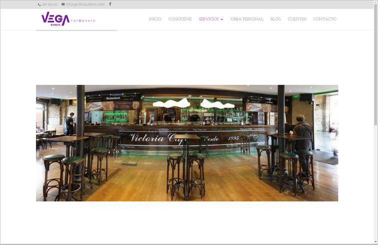 web de fotografía, página de servicios - interiorismo