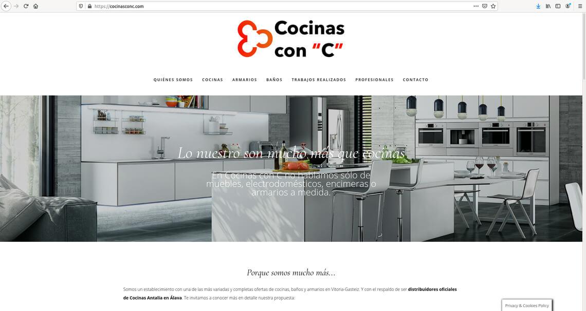 Web y consultoría para Cocinas con C